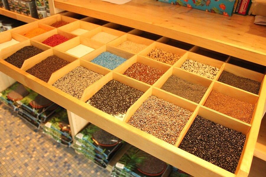 Gamme de choix de coloris de sable